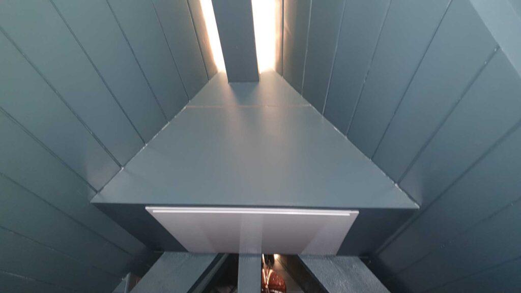 Projector Lift built into roof apex.