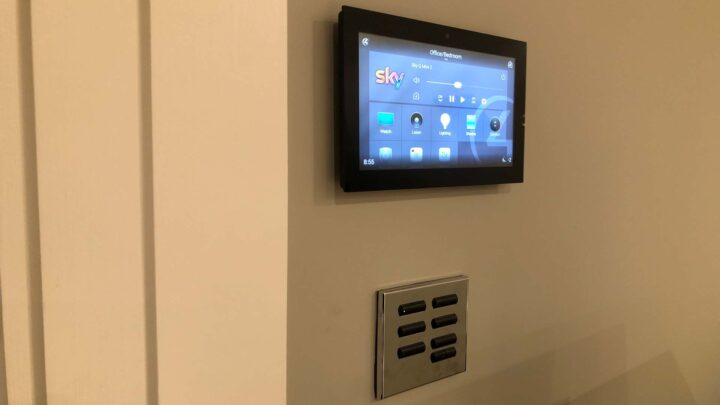 Control4 Touchscreen & Lutron Light Switch